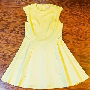 Ted Baker Yellow Sleeveless Dress Sz 4